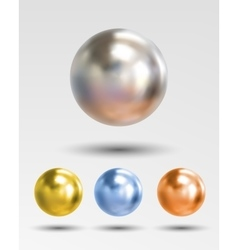 Chrome ball realistic isolated on white background vector image