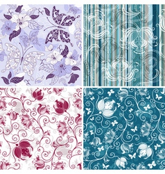 collection seamless pattern vector image vector image
