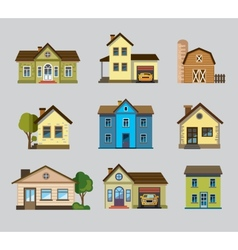 colourful home icon vector image