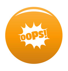 comic boom oops icon orange vector image