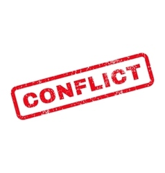 Conflict Text Rubber Stamp vector image vector image