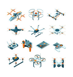 drones aircraft innovation aerial technique vector image