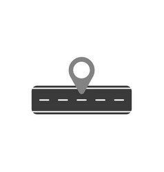 flat design style concept of road and pointer vector image
