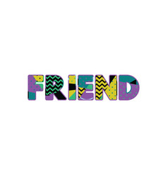 friend concept word art vector image