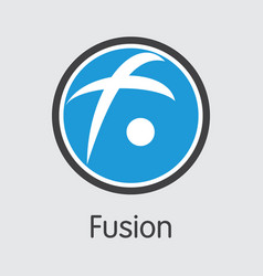 Fsn - fusion trade logo coin or market vector