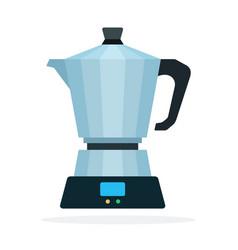 geyser coffee flat isolated vector image