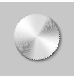 Gray button vector image