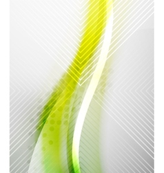 Green and yellow wave layout vector