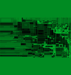 green rectangle shapes structure background vector image