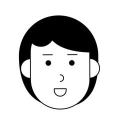 Happy woman cartoon icon imag vector