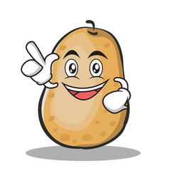 Have an idea potato character cartoon style vector
