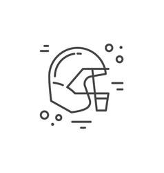 Helmet city line icon vector