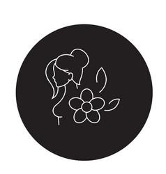 Hormonal balance black concept icon vector