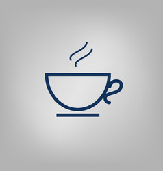 Hot tea or coffee cup icon vector