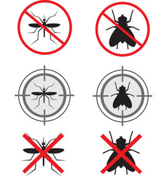 Insecticide symbols vector