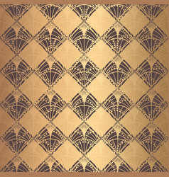 irregular art deco pattern golden background vector image