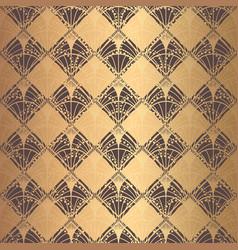 Irregular art deco pattern golden background vector