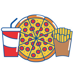 Isolated pizza design vector