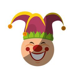 jester clown cartoon vector image