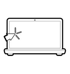 Laptop computer icon image vector