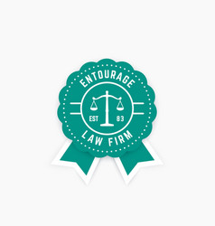 Law firm round logo law office badge emblem vector