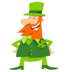 leprechaun and clover cartoon vector image