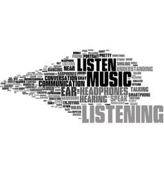Listen word cloud concept vector