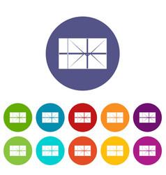 Mailbox icons set flat vector