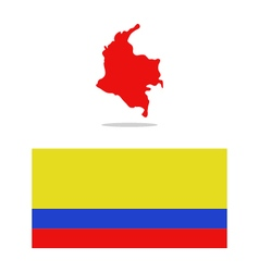 map colombia vector image