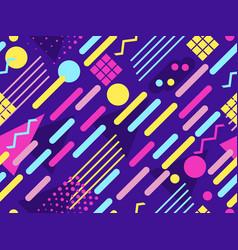Memphis seamless pattern geometric elements vector