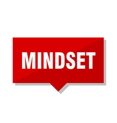 Mindset red tag vector