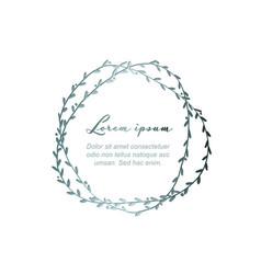 minimalist silver floral flyer vector image