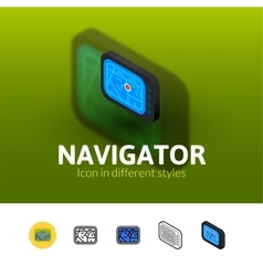 Navigator icon in different style vector image
