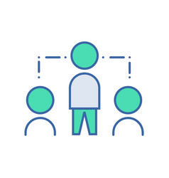 networking icon scheme and diagram symbol flat vector image