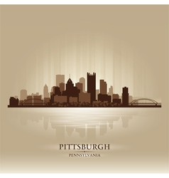 Pittsburgh Pennsylvania skyline city silhouette vector image vector image