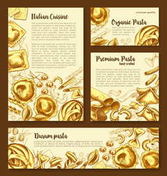 posters templates set of italian pasta vector image