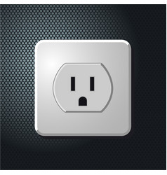 Realistic electrical usa outlet on the wall vector