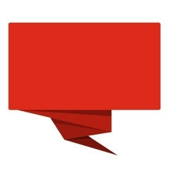 Red banner icon flat style vector image