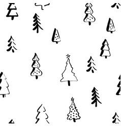 scandinavian seamless pattern of christmas vector image