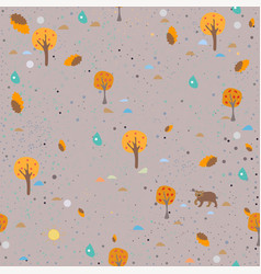 seamless animal pattern on brown vector image