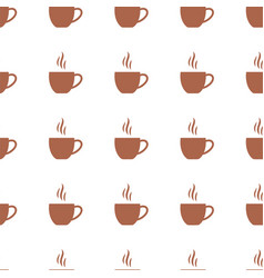 seamless pattern with flat coffee cups vector image