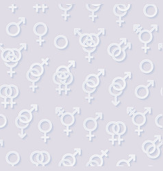 seamless pattern with sexuality symbols vector image