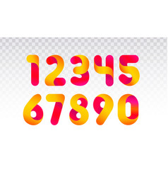 set of numbers from 0 till 9 vector image