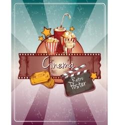 Sketch cinema poster vector image