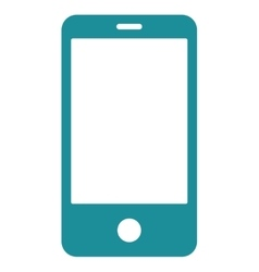 Smartphone flat soft blue color icon vector image