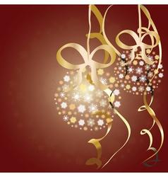 Snowflake balls vector image