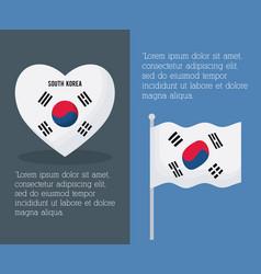 South korea infographic design vector