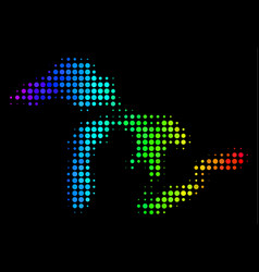 Spectral colored pixel great lakes map vector