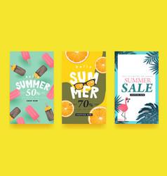 summer sale background layout bannersvoucher vector image