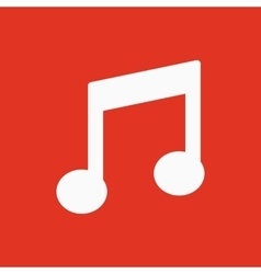 The music disk icon Musical symbol Flat vector image
